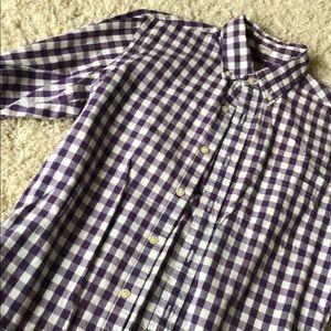 J.Crew Men's Purple / White Button Down Shirt Sz S
